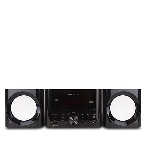 Sharp CD Micro Shelf Stereo System with Bluetooth and Remote Control