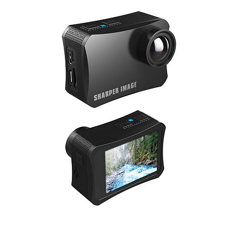Sharper Image 4K Wireless Action Camera w/Accessories and 8GB SD Card