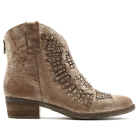 Sheryl Crow Foe Distressed Leather Bootie