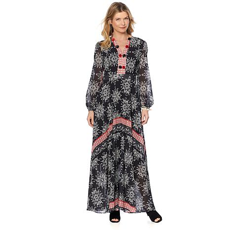 Sheryl Crow Printed Maxi Dress