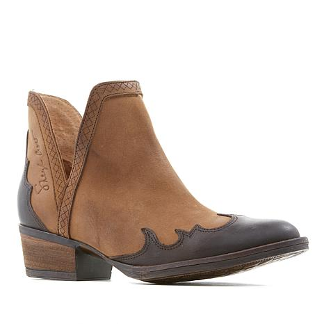 Sheryl Crow Remel Leather Overlay Boot