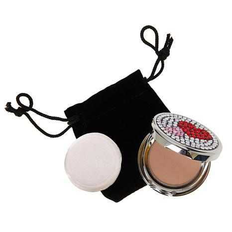 Signature Club A Jeweled Hearts Mirrored Compact