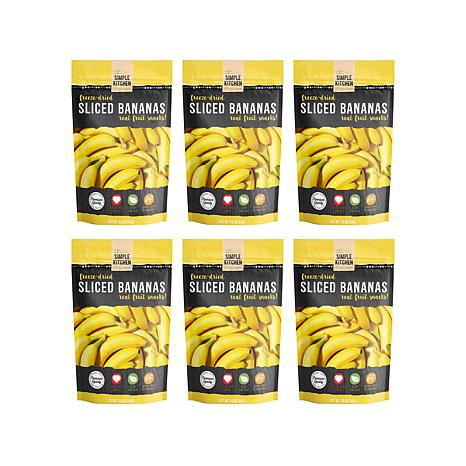 Simple Kitchen 6-pack Freeze-Dried Bananas AS