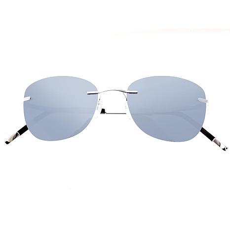 Simplify Matthias Polarized Sunglasses with Silver Frame and Lenses