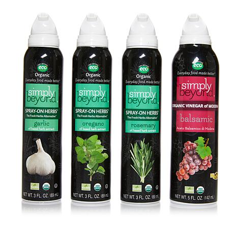 Simply Beyond Spray-On Herbs® 3-pack with Balsamic Vinegar Spray