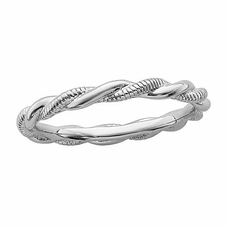 Simply Stacks™ 2.5mm Sterling Silver Twist Ring