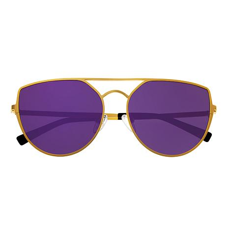 Sixty One Boar Polarized Sunglasses with Gold Frame and Purple Lenses