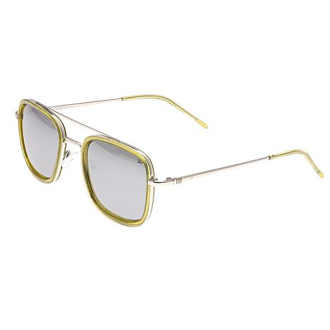 Sixty One Orient Polarized Sunglasses - Green Frame and Silver Lenses