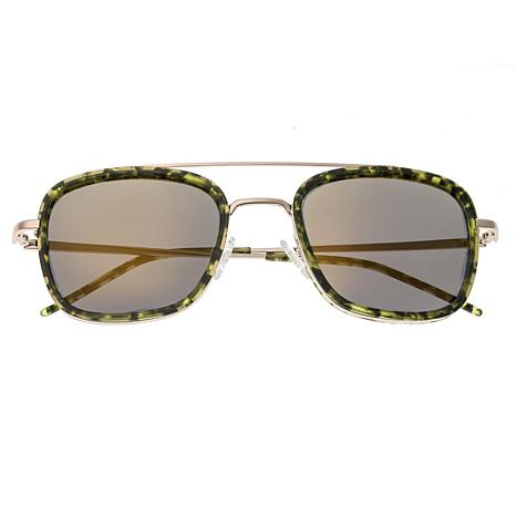 Sixty One Orient Polarized Sunglasses with Green Tortoise Frame