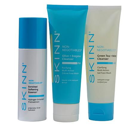 Skinn® Cosmetics 3-piece Non-Negotiables Cleanser Set