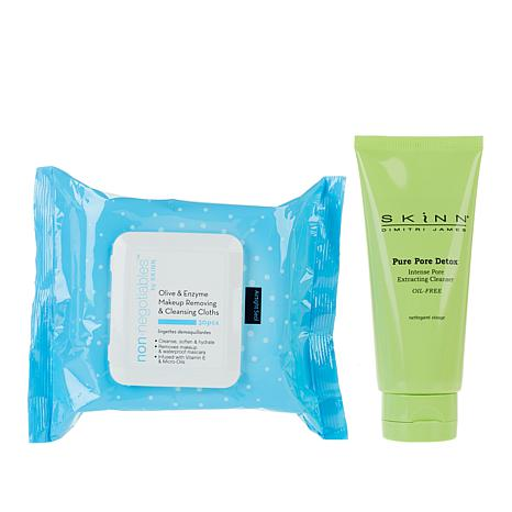 Skinn® Cosmetics Pure Pore Detox Cleanser with Cleansing Cloths
