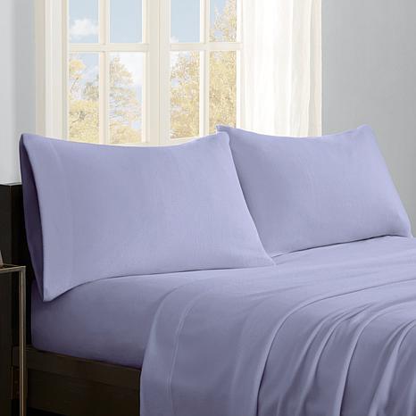 Sleep Philosophy Micro Fleece Sheet Set - Lavender - Twin XL