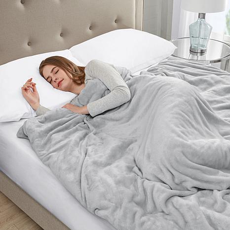 Sleep Philosophy Plush 12 lb. Weighted Blanket - Gray
