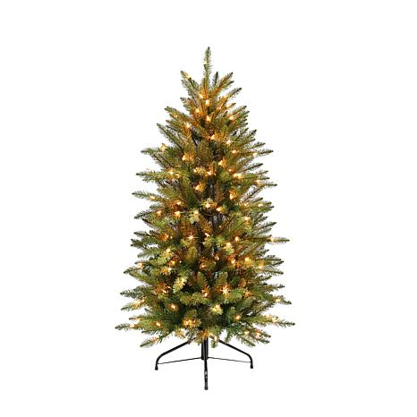Slim Franklin Fir 4-1/2' Artificial Christmas Tree with Clear Lights