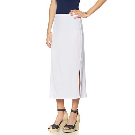 Slinky® Brand 2-pack Knit Maxi Skirts with Side Slits