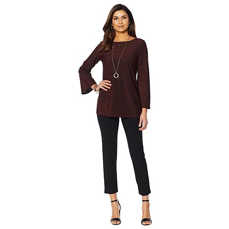 Slinky® Brand 2-piece Sparkle Knit Tunic and Pant
