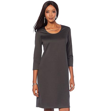 Slinky® Brand 2pk 3/4-Sleeve Solid Ponte Knit Dress