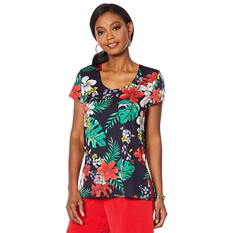Slinky® Brand 2pk Cap-Sleeve Tops in Print and Solid