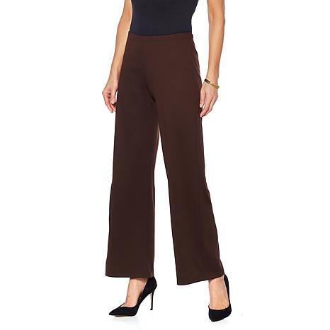 Slinky® Brand 2pk Ponte Knit Basic Wide-Leg Pant