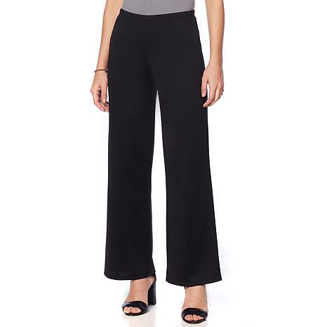 20f48c3f1e Slinky® Brand 2pk Ponte Knit Basic Wide-Leg Pant - 8872179 | HSN