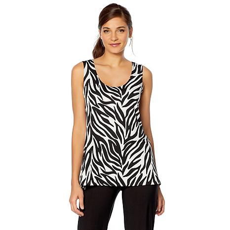 Slinky® Brand 2pk Sleeveless Tunics in Solid and Print