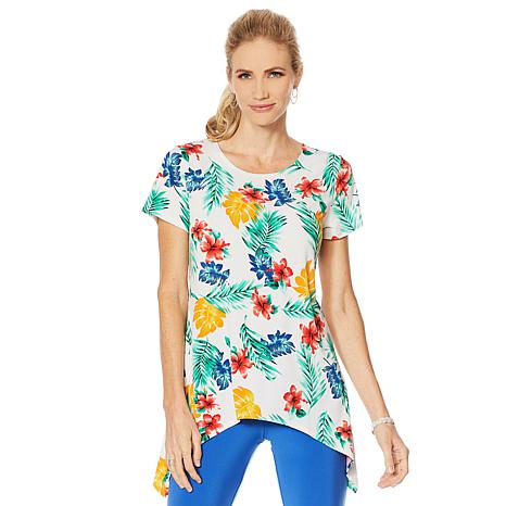 Slinky® Brand Short-Sleeve Printed Sharkbite Tunic