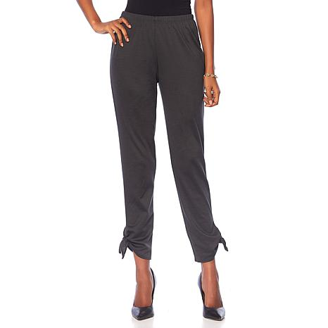 Slinky® Brand Solid Ponte Harem Pant with Ankle Tie