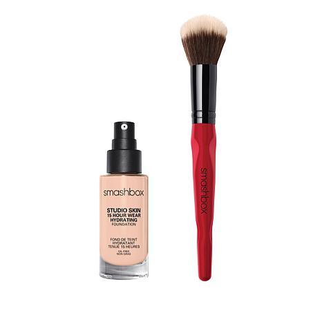 Smashbox 1.0 Ivory Studio Skin Foundation with Brush