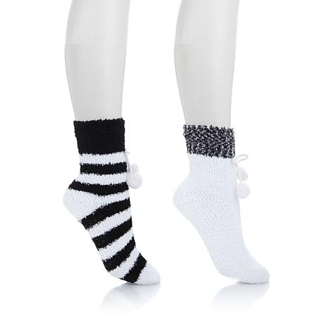 Soft & Cozy 2-pack Pom Pom Socks