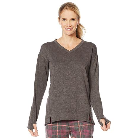 Soft & Cozy Brushed Jersey Pullover with Hi-Low Hem