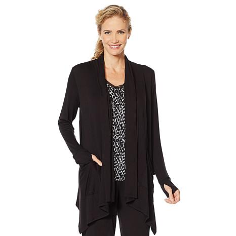 Soft & Cozy Cascading Wrap with Thumbhole Cuffs