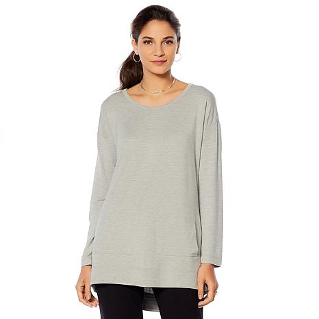 Soft & Cozy Loungewear Cool Luxe Knit Patch Pocket Tunic