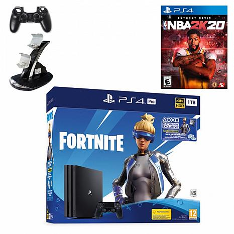 """Sony PlayStation 4 Pro 1TB Fortnite Neo Versa Console with """"NBA 2K20"""""""