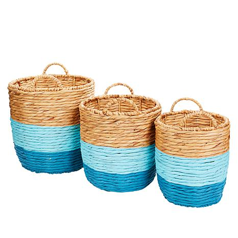 South Street Loft Set of 3 Painted Baskets