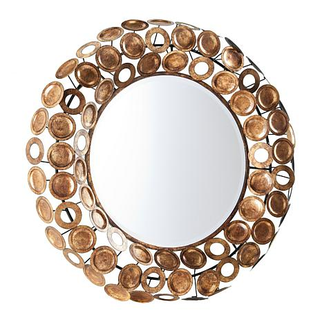 Southern Enterprises Austin Round Decorative Mirror