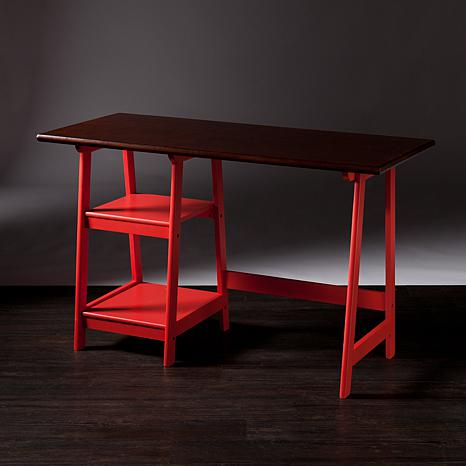 Southern Enterprises Bridgeport Desk Red Espresso