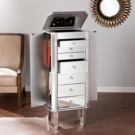 Southern Enterprises Christi Mirrored Jewelry Armoire ...