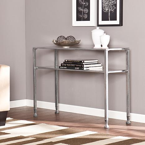 southern enterprises dina metal and glass console table - Metal Console Table