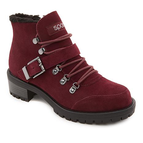 Sporto® Katie Waterproof Suede Lace-Up Boot