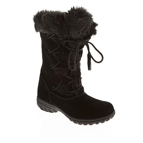 Megan Waterproof Suede Tall Boot with