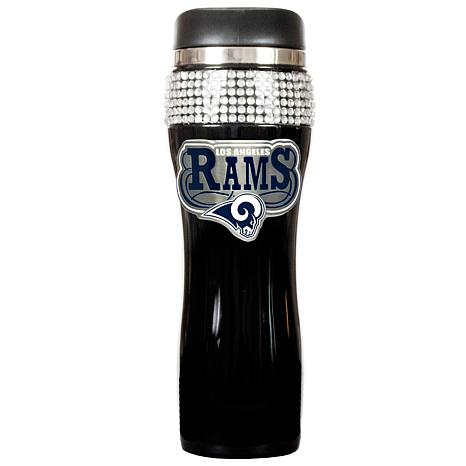 St. Louis Rams Black Stainless Steel Bling Travel Tumbler