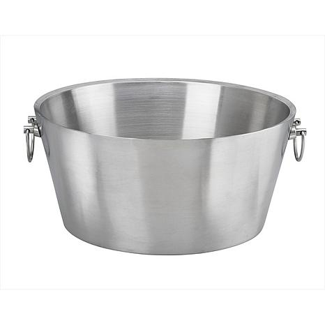 "Stainless Steel 19"" Double Wall Insulated Party Tub"