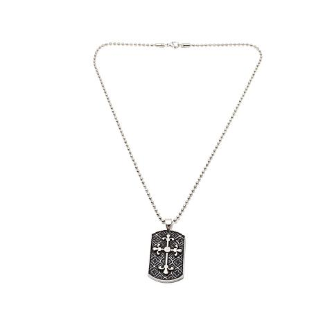 Stainless Steel 2-Tone Celtic Cross Pendant with Chain