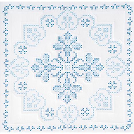 Stamped White Quilt Blocks 18-inch x 18-inch 6-pack