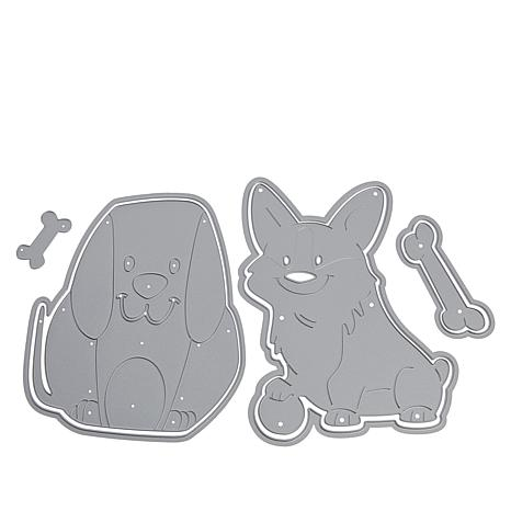 Stamps of Life Corgi and Puppy Fold-It Die Sets for Standard A2 Cards