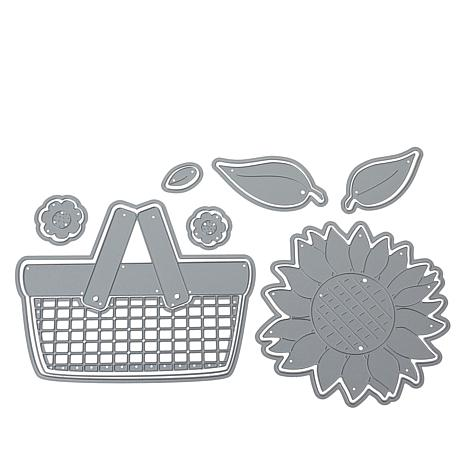 Stamps of Life Fold-It Picnic Basket and Sunflower Dies