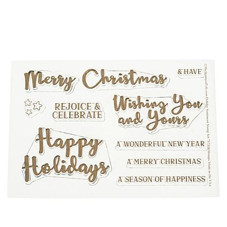 Stamps of Life Happy Holidays Sentiments Stamps by Stephanie Barnard