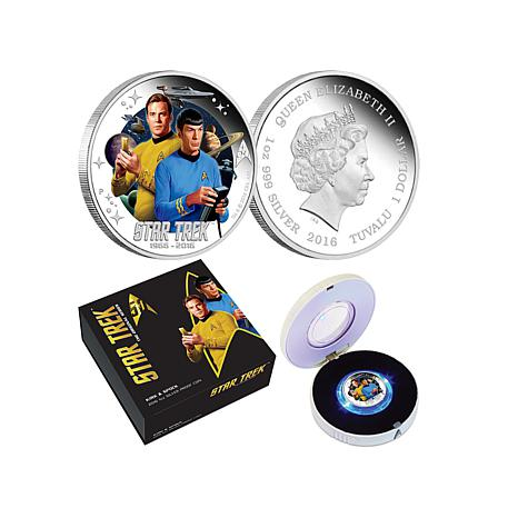 Star Trek 50th Anniversary Kirk & Spock Colorized Coin