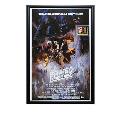 Star Wars The Empire Strikes Back Signed Movie Poster