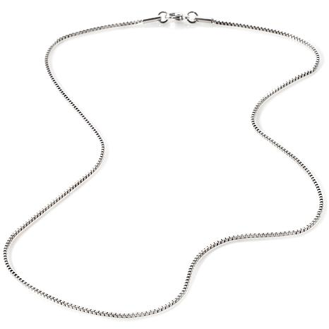 """Stately Steel 1.5mm Box-Link 18"""" Chain Necklace"""
